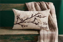 Load image into Gallery viewer, Bird Embroidered Pillow