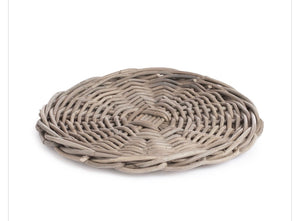 Woven Grey Charger-14""
