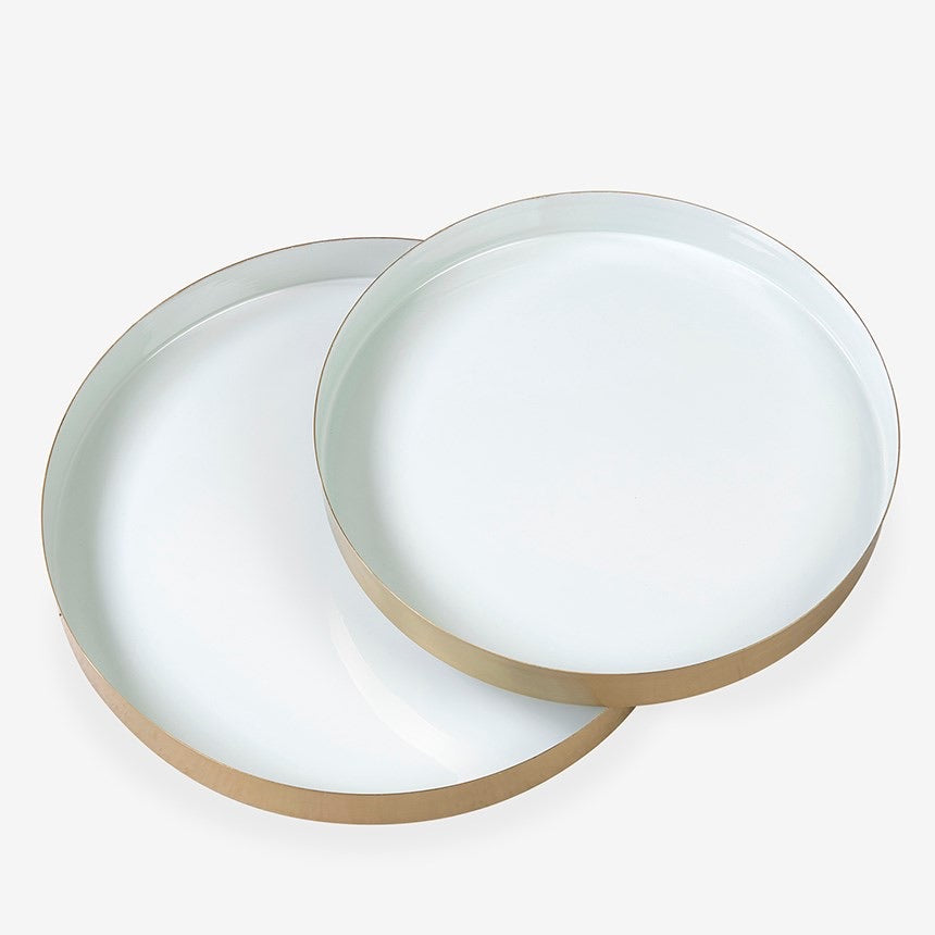 Enamel + Brass Circle Tray