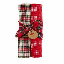 Load image into Gallery viewer, Tartan Waffle Tea Towel Set of 2