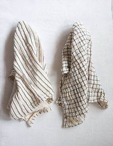 Natural+Black Cotton Tea Towel