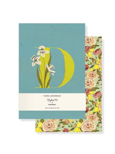 Monogram Floral Mini Journal Set