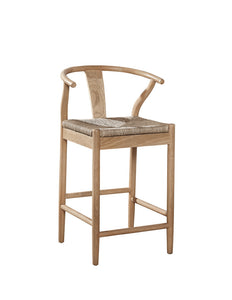 Broomstick Oak Counter Stool