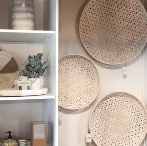 Round Woven Wood Baskets