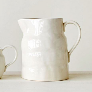 White Stoneware Pitcher - 64oz.