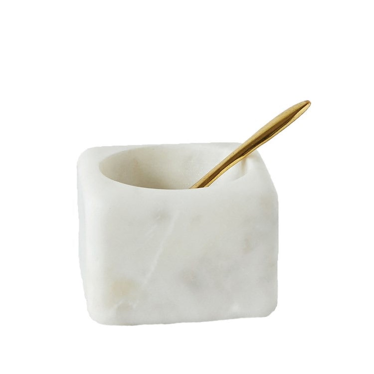 Marble Bowl w/ Brass Spoon