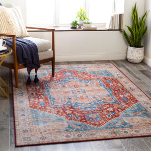 Burnt Orange & Blue Rug