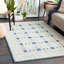 Load image into Gallery viewer, Ice Blue & Cream Rug