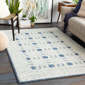 Ice Blue & Cream Rug