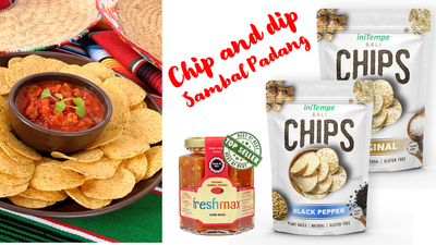 Chip and Dip set Sambal Padang merah