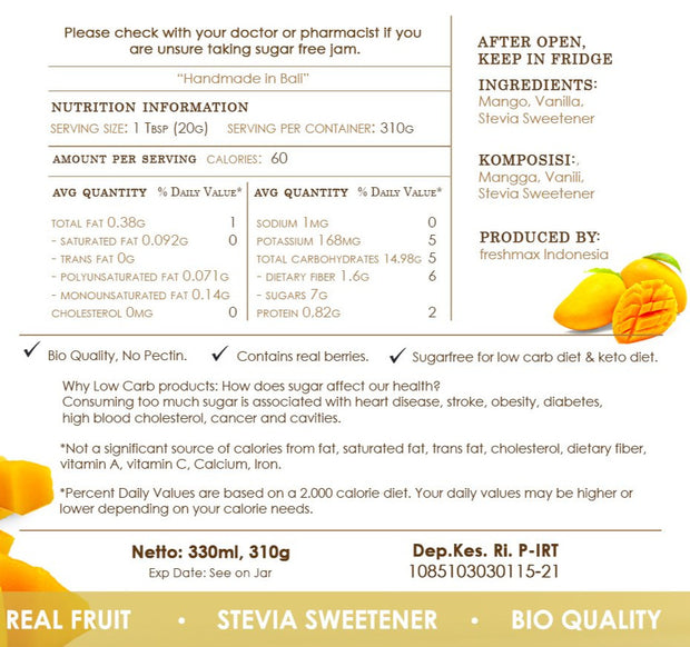 Selai Mangga SuperKeto - The wondrous anti-aging fruit