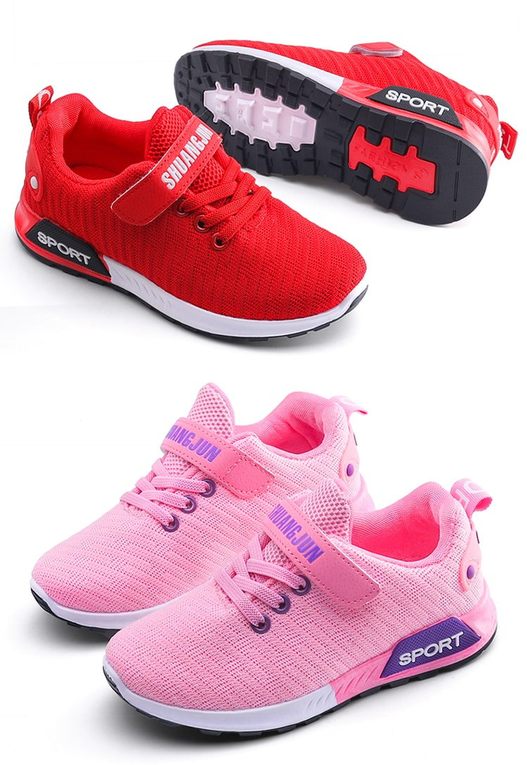 Children Breathable running Shoes Pink