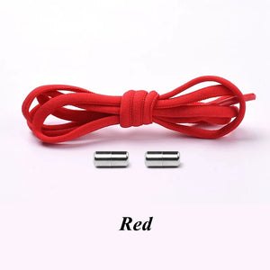 Elastic Shoe Laces For kids red