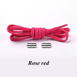 Elastic Shoe Laces For kids rose red