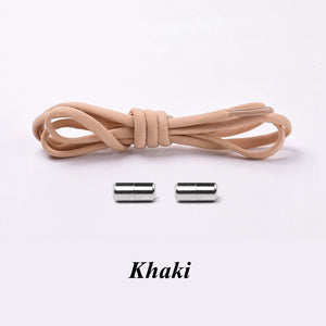 Elastic Shoe Laces For runners khaki