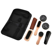 Load image into Gallery viewer, 8 Pcs Shine Polish Brushes Cylinder Box Kit Shoe Care Tool Shoe Brush Professional Wooden Brushes Set Home Cleaning Accessories
