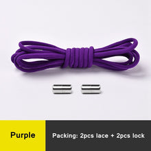 Load image into Gallery viewer, Elastic Shoe Laces For kids purple