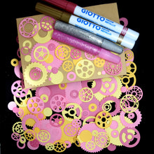 Load image into Gallery viewer, Keepsake Book Box with Pink Cogs