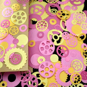 Keepsake Book Box with Pink Cogs