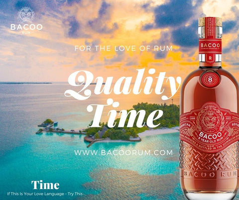 Bacoo five Love Languages 10 year rum quality time