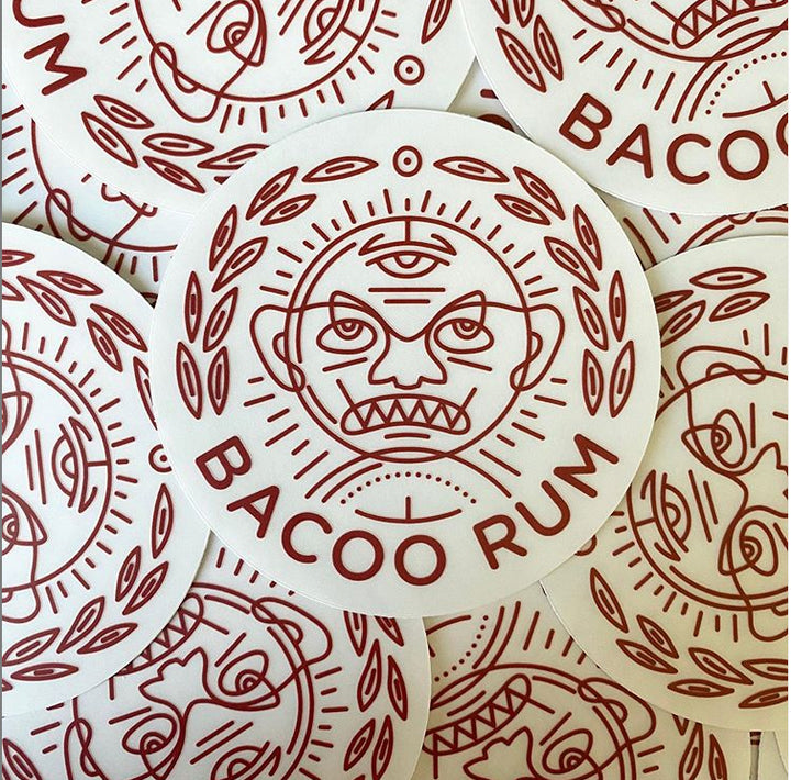 Bacoo Rum Waterproof Laptop Sticker