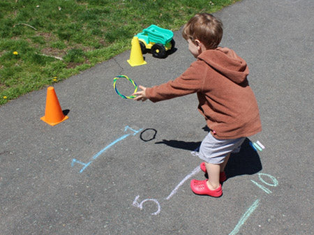 Traffic Cone Ring Toss