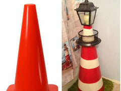 Lighthouse from traffic cone