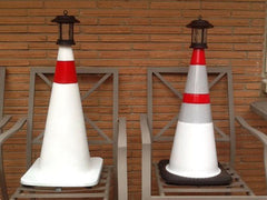 Solar Lighthouse from traffic cones
