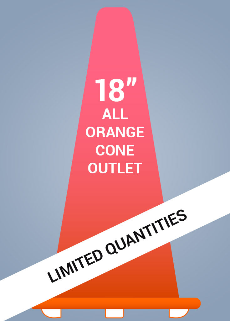 "18"" All Orange Cone™ - Coloration Outlet - FINAL SALE!"