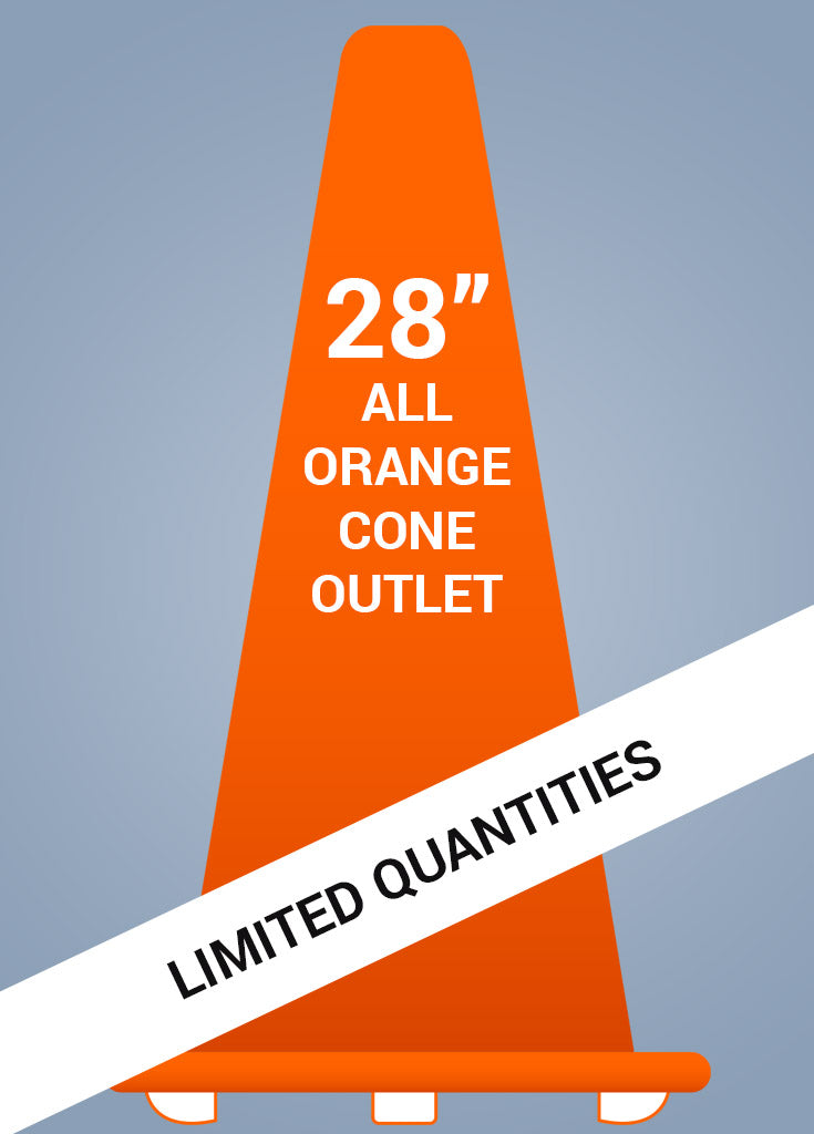 "28"" All Orange Cone™ - General Outlet - FINAL SALE!"