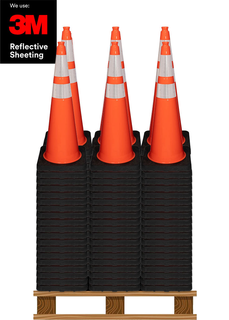 "200 10LB 36"" Black Base Cones™ Pallet"