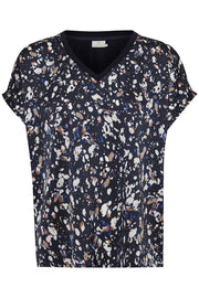 Abita Wing-Sleeved Blouse Midnight Marine