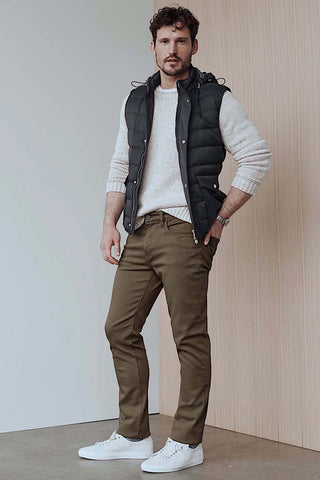 Cool Slim-Leg Pant Brown Comfort