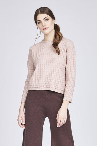 Long-Sleeved, Waffle-Knit Sweater Five Colours