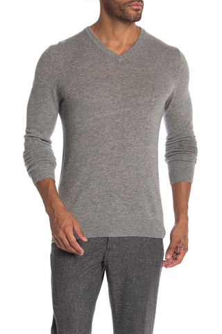 Long-Sleeved V-Neck Sweater Three Colours