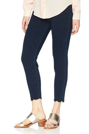 Scalloped-Hem Denim Legging Three Colours