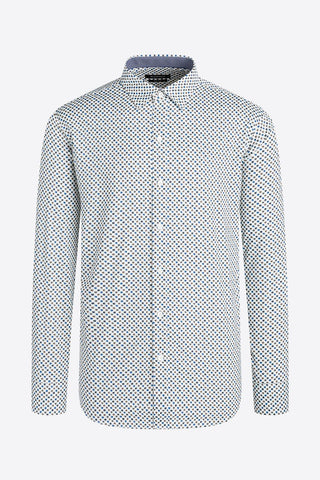 Long-Sleeved, Geometric-Print Performance Shirt Snow