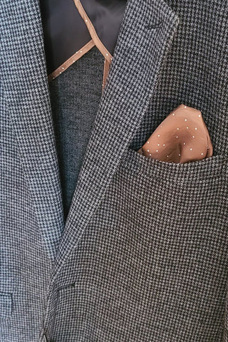George Houndstooth Sport Coat Medium Grey