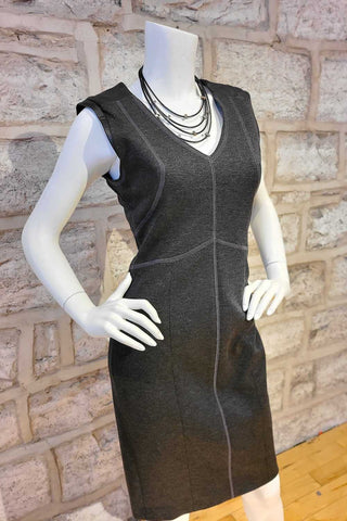 Double-Knit Jersey Dress Charcoal