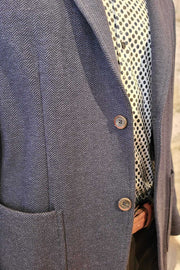 Neat Herringbone Sport Coat Blue