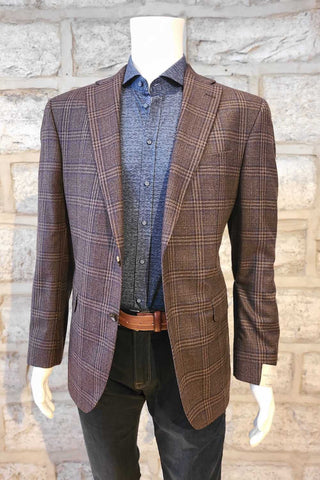 Glen Plaid Sport Coat Brown