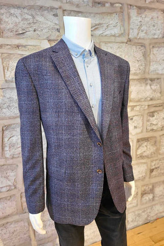 Glen Plaid Sport Coat Grey