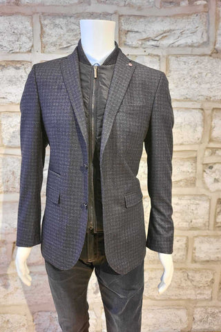 Two-Tone Sport Jacket with Removable Storm Bib Grey