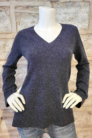 Bell-Sleeved, V-Neck Cashmere Sweater Two Colours
