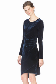 Lilla P Long-Sleeve Velvet Dress