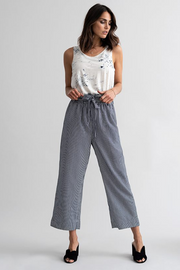 Kaffe Marine Cropped Pant with Belt