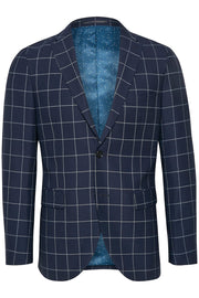 George Sport Coat Navy Windowpane