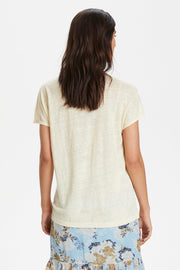 Chamie Short-Sleeved T-Shirt Eggnog