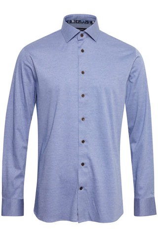 Marc Long-Sleeved, Geo-Print Shirt Ink Blue