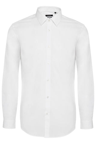 Robo Long-Sleeved Dress Shirt White and Black